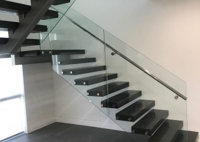 Modern Stair, Central Beam and Floating Stair, The Bucket Company